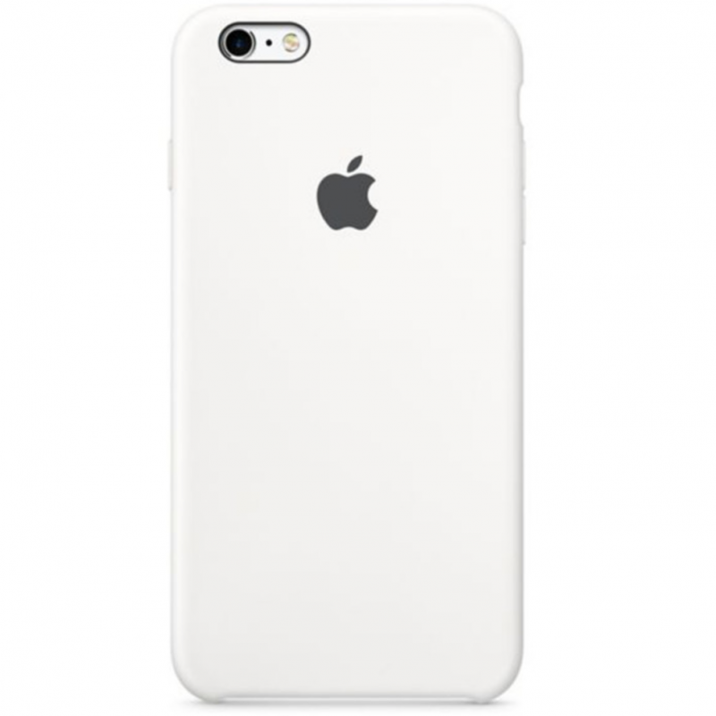 coque en silicone d'origine Apple coloris Blanc iPhone 6/6S