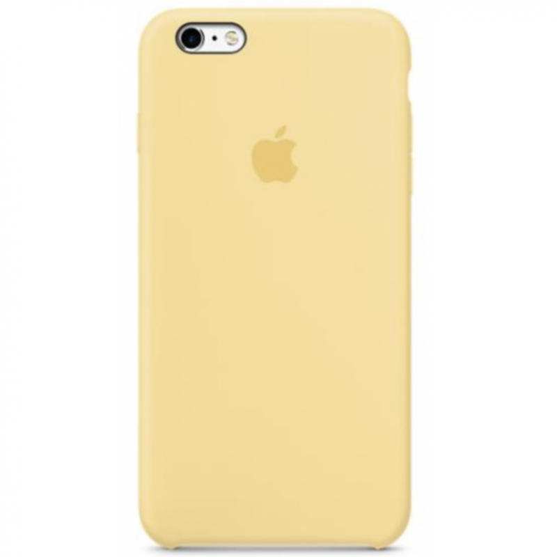 Coque silicone Apple iPhone 6/6S Jaune